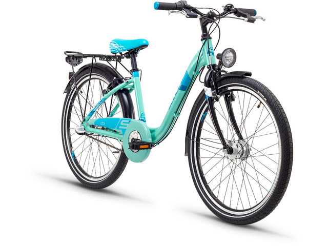 s'cool chiX 24 3-S Børnecykel steel turkis (2019) | City